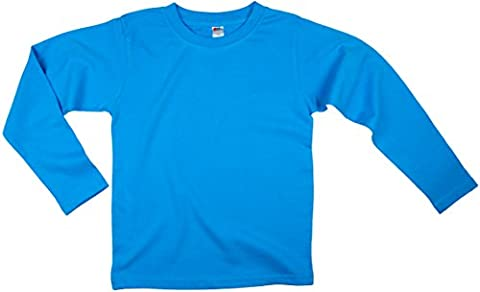 Earth Elements Little Kids'/Toddlers' Long Sleeve T-Shirt 8T Turquoise - Turquoise Girls Shirt