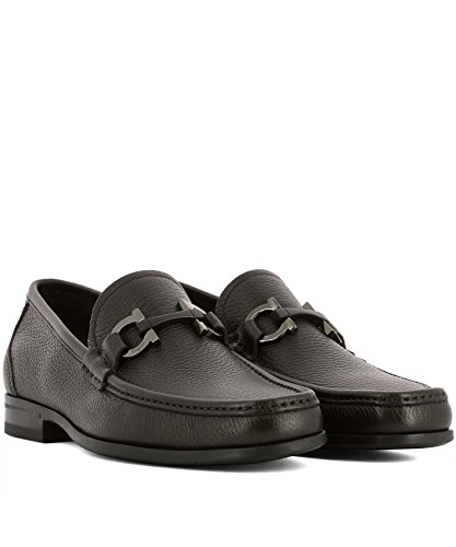 Salvatore Ferragamo Men's 0642847 Black Leather Loafers