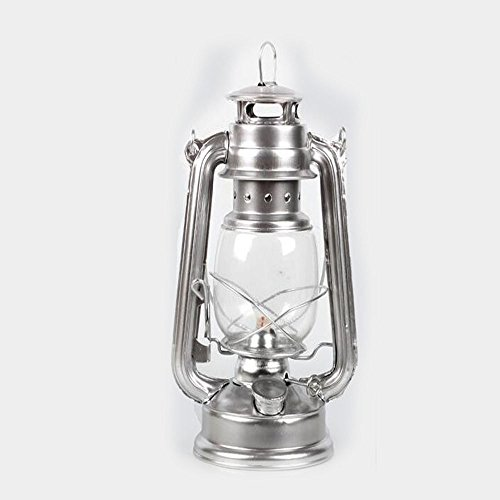 Original Feuerhand Hurricane Kerosene oil Camping outdoor Lantern lamp lighting Silver (The Feuerhand Lantern)