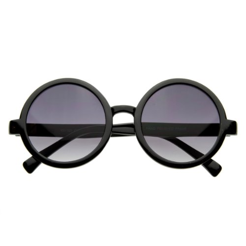 zeroUV - Cute Mod-era Vintage Inspired Round Circle Sunglasses - Sunglasses Circle Black