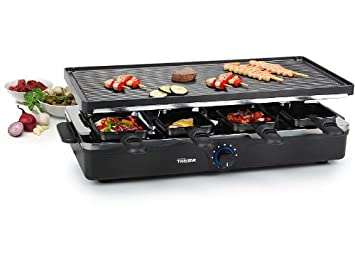Parrilla de raclette para 8 personas (mesa plancha eléctrica ...