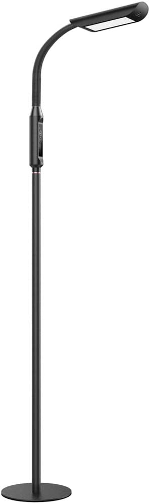 TaoTronics LED Floor Lamp 1815 Lumens 50,000 Hours Lifespan, Dimmable Standing Floor Lamp Two in One Flexible Gooseneck Touch Control Panel for Living Room, UL adapter