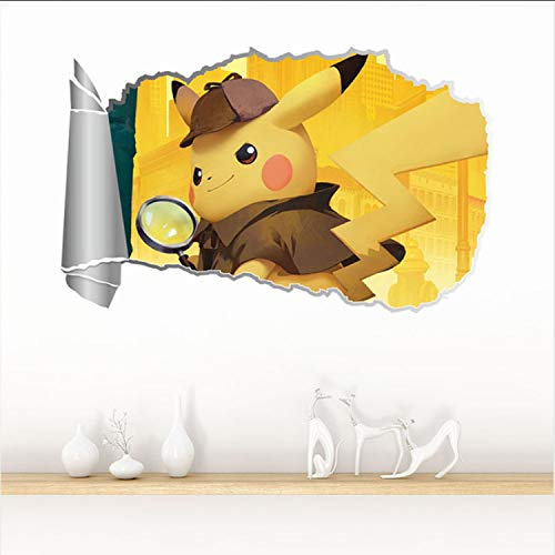 Ver Detective Pikachu Película Pegatinas De Pared 3D para ...