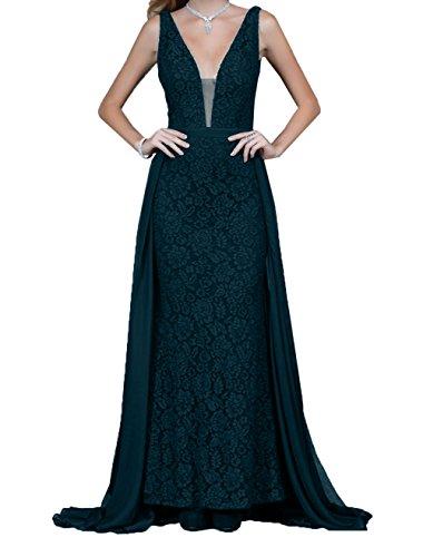 Rock Braut A La Spitze Langes Linie Dunkel Abiballkleider Blau Promkleider Abendkleider mit mia Schleppe Ausschnitt V 5UqBxqPw