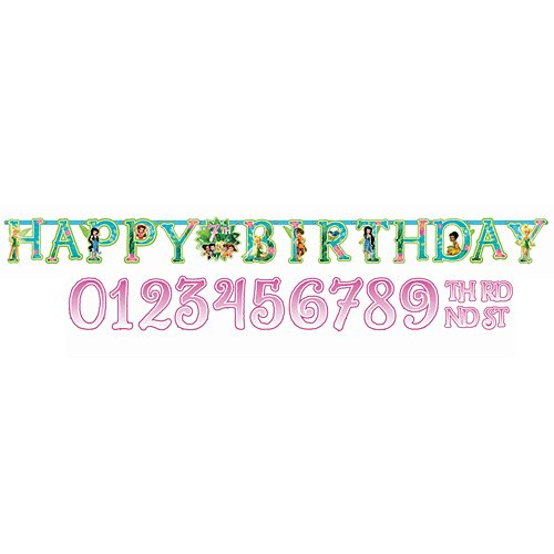 Disney Tinkerbell Customizable Birthday Party Banner Decoration (1 Piece), Multi Color, 10 1/2' x (Tinkerbell Birthday Theme)