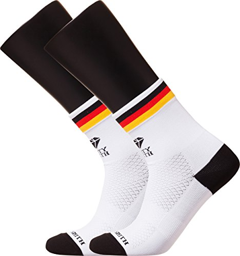[Sooty Smith Quarter Cycling Lycra Easy Cool Fun Design Bike Socks Lightweight (SS = Size 9 (US Women Shoes 5.5-8 = Men 4.5-7), Germany White 2pairs SS)] (Customs Of Halloween In Germany)