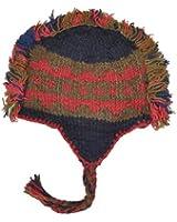 Harvest Mohawk Hand-Knit 100% Wool Winter Hats with Fleece Lining