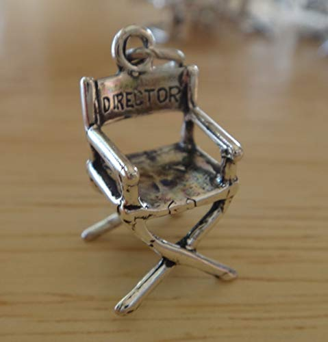 Sterling Silver say Director on Front Universal Studios on Back Director's Chair Chair Sterling Silver Charm