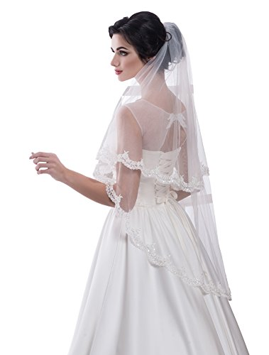 Bridal Veil Betty from NYC Bride collection (short 30'', ivory) by NYC Bride