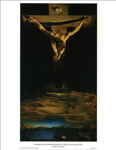Salvador Dali Christ of Saint John of the Cross Surrealist Religious Art Poster Print 16x20 (Dali Christ Of St John Of The Cross)