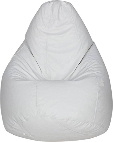Caddyfull Large Bean Bag Cover White Amazon In Home Kitchen
