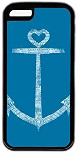 Lovely Anchor Theme Hard Back Cover Case For Iphone 5C