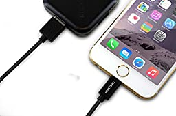 Combo: 5pcs of Propel Apple Certified Lightning to USB Cable 6ft Black