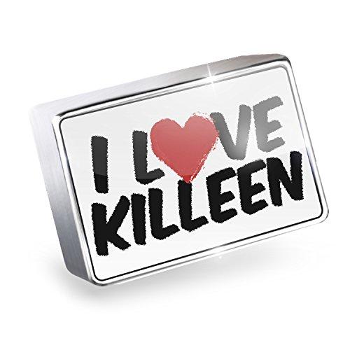 Floating Charm I Love Killeen Fits Glass Lockets, - Killeen Glass