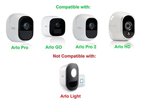 Dropcessories Table/Ceiling Mount Compatible with Arlo & Arlo Pro Wire-Free Cameras (White)