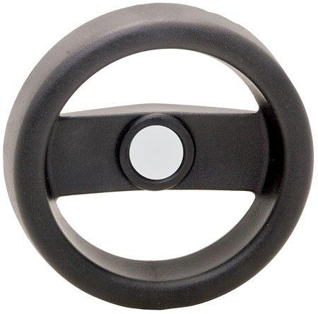 .500 Bore w//o Revolving Handle 6.30 Dia. 2 Spoke Technopolymer 1 Each Elesa Hand Wheel Black Matte