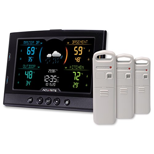 AcuRite 02083M Home Temperature & Humidity Station with 3 Indoor / Outdoor Sensors
