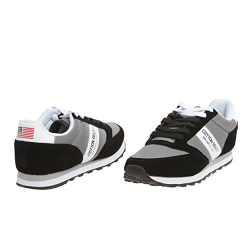 Bianco Nero Cotton Uomo Belt Sneakers da wwXYzH