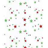 """Round Oilcloth Tablecloths in Stars Collection - Red and Green - 47"""""""