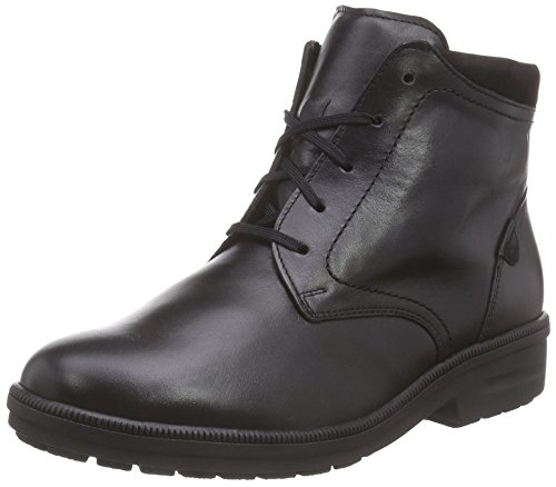 Ganter KATHY, Weite K - botas de caño bajo de cuero mujer negro - Schwarz (schwarz 0100)