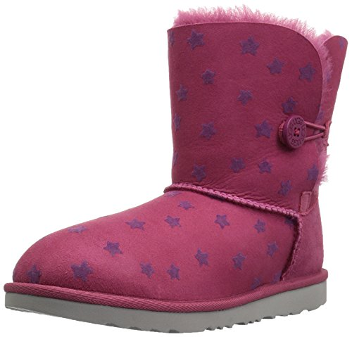 UGG Girls K Bailey Button II Stars Pull-On Boot, Brambleberry, 6 M US Big (Big Star Boot)
