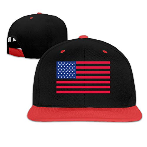 Buddha Free Printable-US Flag Boys Girls Hat Baseball Caps Red ()