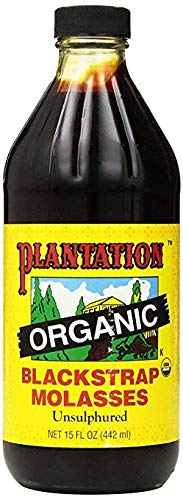 - Plantation Organic Blackstrap Molasses, 15 oz Bottle (Unsulphured)