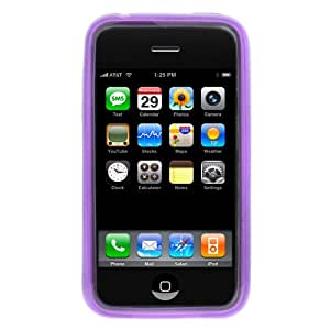 GTMax Purple Durable Soft Gel Skin Cover Case for Apple Iphone 3G, Iphone 3G S 3GS Smartphone