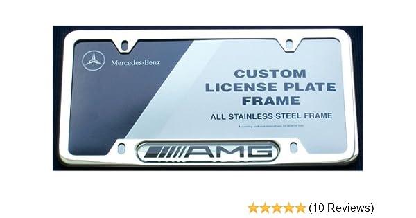 Standart License Plates For Mercedes-Benz E 63 AMG Frames AMG Logo USA Model