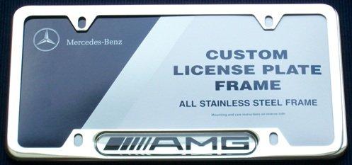 Genuine Mercedes Benz AMG Chrome License Plate Frame Mercedes Benz Original Parts