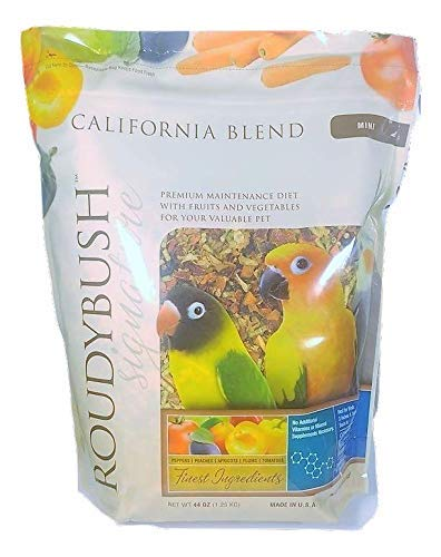 (RoudyBush California Blend Bird Food, Mini, 44-Ounce)