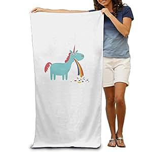 Cool Puking Rainbow Unicorn Adult Beach Towel Pool Towel