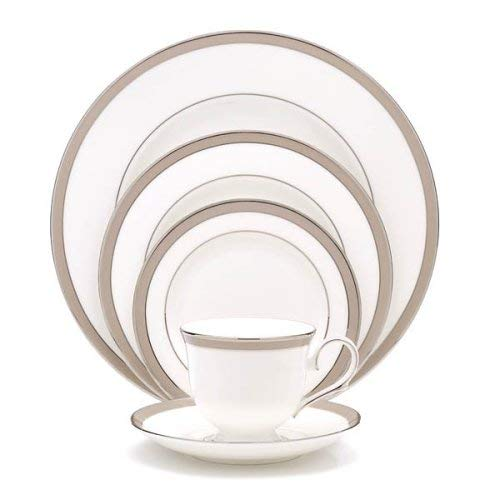 OKSLO Onyx frost platinum banded ivory china salad plate, crafted of ivory fine china Model d2995