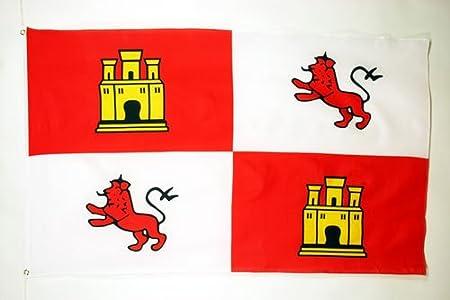 AZ FLAG Bandera de la Corona DE Castilla 150x90cm - Bandera Real ESPAÑOLA - Reino DE ESPAÑA 90 x 150 cm: Amazon.es: Hogar