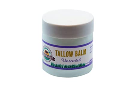 Buffalo Gal Grassfed Beauty HERBAL TALLOW BALM Unscented 2 oz