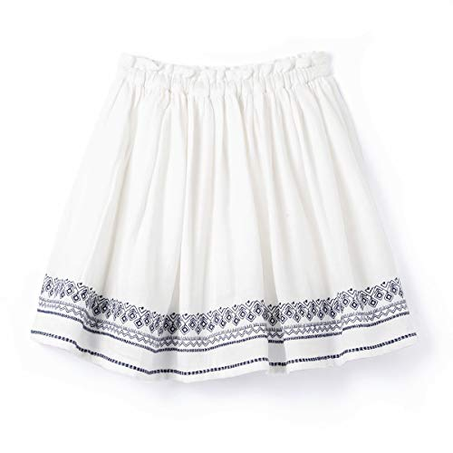 a856fb6e7b2f3 La Redoute Collections Big Girls Skirt With Folk Embroidery 3-12 Years  Beige Size 8 Years - 49 In.