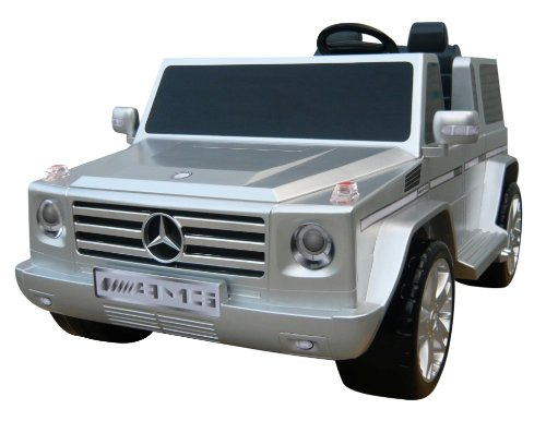 National Products 12V Silver Mercedes Benz G-Class Battery Operated Ride-on (Truck Benz Mercedes Center)