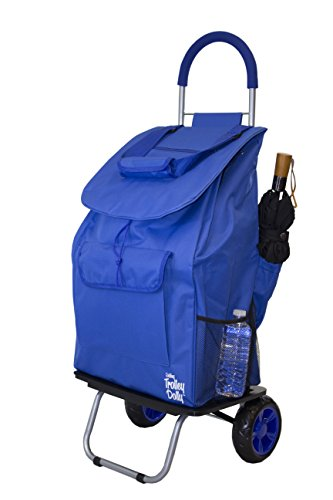 Bigger Trolley Dolly, Blue Shopping Grocery Foldable Cart