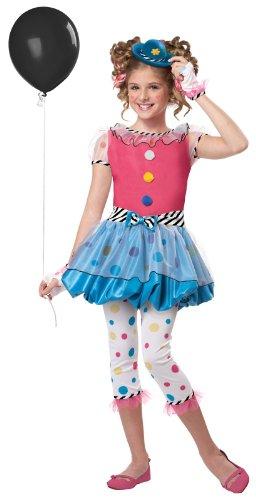 Polka Dot Circus Costume (Polka Dot Clown Child Costume - Medium Plus)