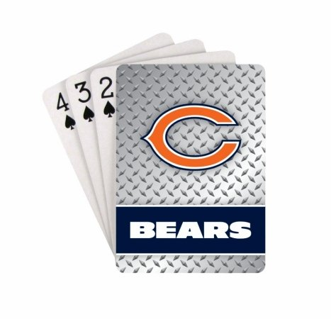 Chicago Bears Playing Cards - Diamond Plate by Pro Specialties Group