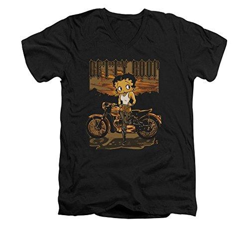 Betty Boop Rebel Rider Adult V-neck T-shirt Xl