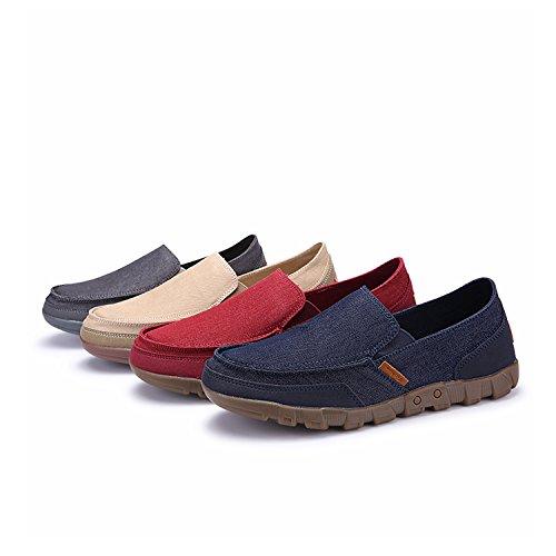 Puremee Herrenmode Leichte Atmungsaktive Slip-on Canvas Schuhe, Turnschuhe, Freizeitschuhe Große Größe / Mittlere größe / Kleine größe Blau