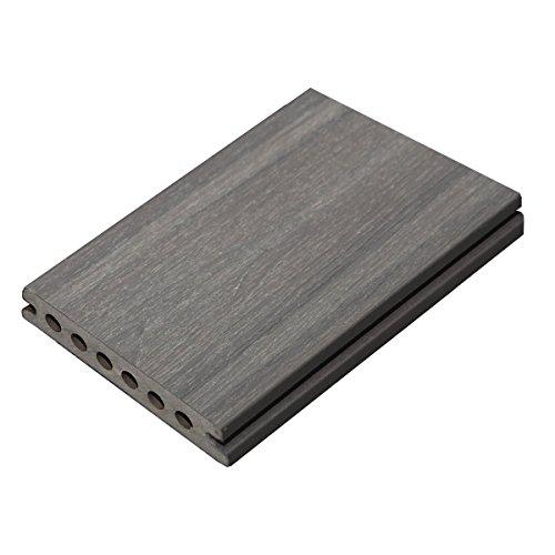 Cali Bamboo - TruOrganics Composite Decking, Yosemite Dark Gray Wood Grain - Sample Size 4
