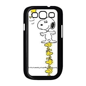 Charlie Brown and Snoopy Samsung Galaxy S3 9300 Cell Phone Case Black delicated gift US6019198