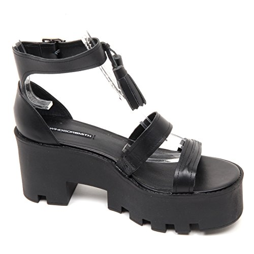 D2154 sandalo donna WINDSOR SMITH TOUGHY scarpe nero shoe woman Nero