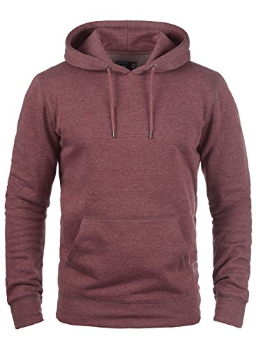 À Hoodie Homme Pour Polaire Pull Wine Sweat Doublure solid Capuche 8985 Red Bert Melange waRxqE