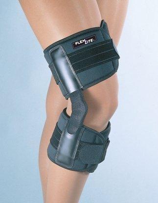 BSN Medical Flexlite Walking Hinged Knee Support, Extra Large, Black