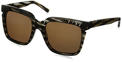 Pared Eyewear Charlie and the Angels Clear with Corners Square Sunglasses, Dark Tortoise/Gold Inlay, 21 - Pared Sunglasses