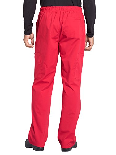 Cherokee Professionals Workwear Men's Tapered Leg Zip Fly Drawstring Scrub Pant Small Tall Red by Cherokee (Image #2)