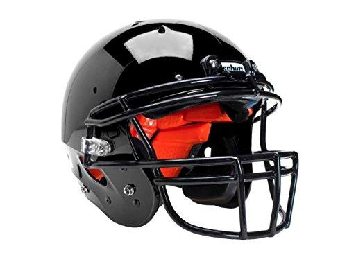 2018 Schutt Youth R3+ Football Helmet (Black, Large)